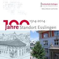 100 Jahre Hochschule Esslingen