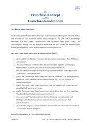 Franchise-Konzept Franchise-Konditionen - Blueorange