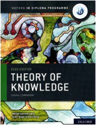 9780198497707 IB Theory of Knowledge Course Book FB