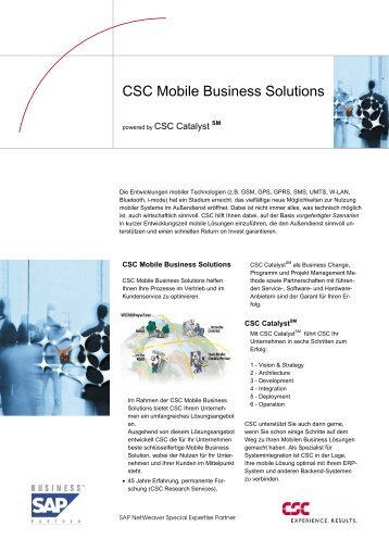CSC Mobile Business Solutions