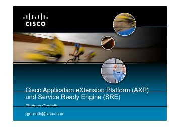 Cisco Application eXtension Platform (AXP) Cisco Application ...