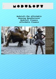 Moduloft:The Affordable Housing Manufacturer Moduloft Finance Affordable Finance