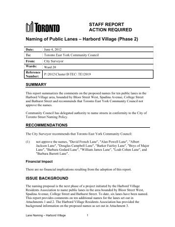 Harbord Village - City of Toronto
