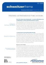 Schweitzer Thema 03/20: Mitarbeiter und Mitarbeiterinnen finden und binden