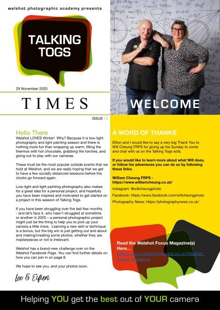 Issue Two - Talking Togs Times - 29th November 2020