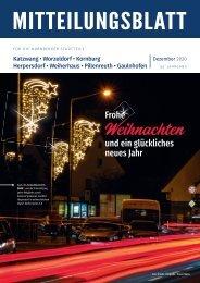 Mitteilungsblatt Nürnberg-Katzwang/Herpersdorf/Kornburg/Weiherhaus/Pillenreuth Dezember 2020