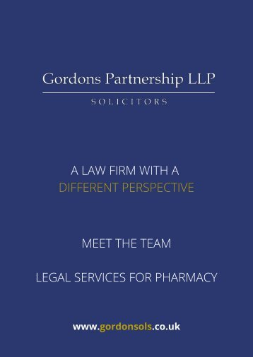 Legal Services for Pharmacy Fitness to Practise