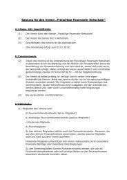 FF Rehschaln - Satzung