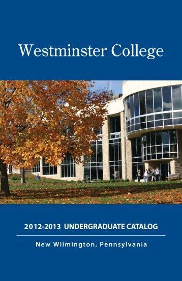 Undergraduate Catalog - Westminster College