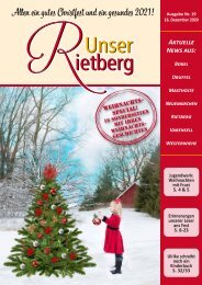 Unser Rietberg Ausgabe 19 vom 16. Dezember 2020