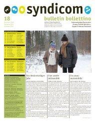 syndicom Bulletin / bulletin / Bollettino 18