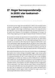 27. Hoger beroepsonderwijs in 2030_ vier toekomstscenario's