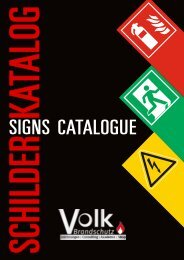 Volk_Brandschutz_Schilder Katalog inkl. Preisliste