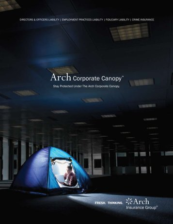 Corporate Canopy - Brochure - Arch Insurance Group