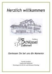 2020 Speisekarte Gasthaus Schlüssel