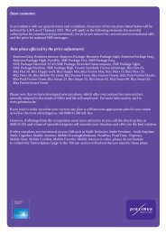 Dear customer, Rate plans affected by the price adjustment - Proximus
