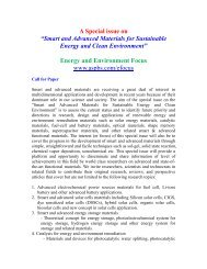 """A Special issue on """"Smart and Advanced Materials for Sustainable ..."""