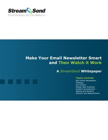 Make Your Email Newsletter Smart and Then ... - Email Marketing
