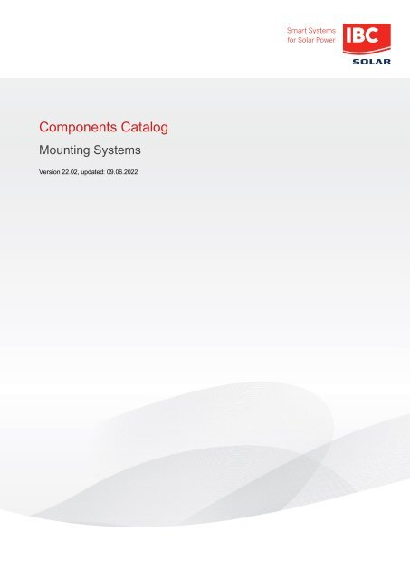 Catalogue of components: IBC SOLAR mounting systems
