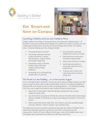 Eat Smart and Save on Campus - Minnesota Department of Health