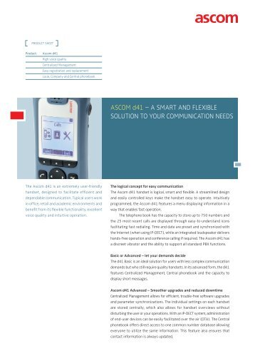 ASCOM d41 – A SMART AND FLEXIBLE SOLUTION TO YOUR ...