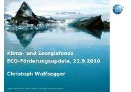 Mag. Christoph Wolfsegger / Klima- und Energiefonds