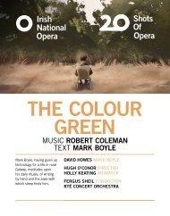 The Colour Green Programme Book