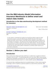 Use the IBM Industry Model Information Insurance Warehouse to ...