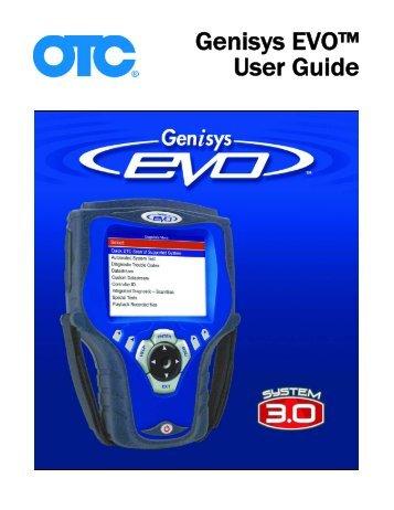 Genisys EVO™ User Guide - OTC