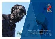 Shrewsbury School Foundation - Annual Report & Donor Roll 2019–2020