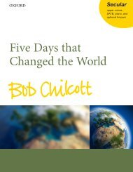 Bob Chilcott  - Five Days That Changed the World