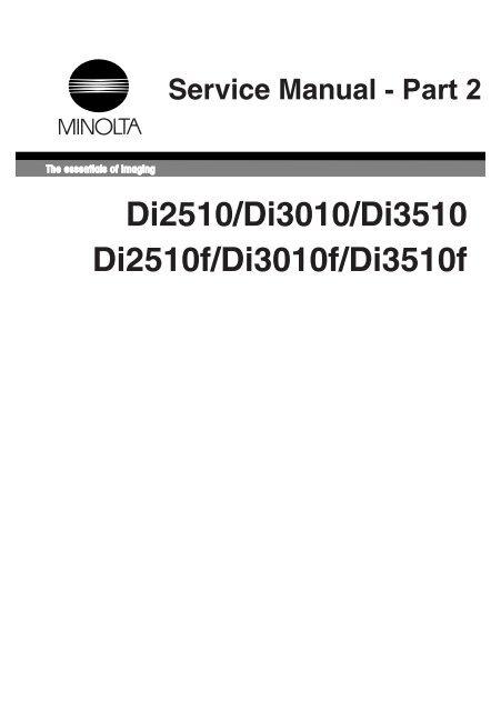Di2510/Di3010/Di3510 Di2510f/Di3010f/Di3510f - Konica