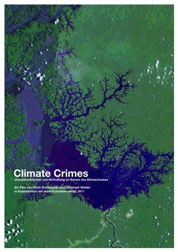 Die Themen von Climate Crimes - ecotone