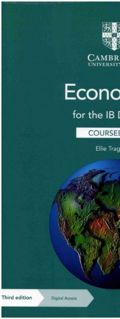9781108847063 Economics for the IB Diploma Coursebook with Digital Access (2 Years)