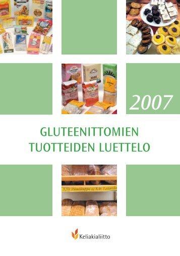 GLUTEENITTOMIEN TUOTTEIDEN LUETTELO - RUOKAOHJE.fi