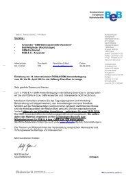 14. Internationales GBM/POB&A Anwendertreffen 2010