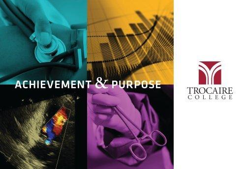 Achievement & Purpose: Start Your Trocaire Story