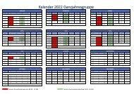 2022 Kalender Ganzjahreskurs