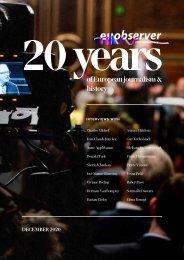 20 years of European journalism & history