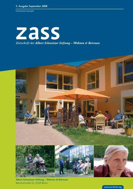 Ausgabe 5 von 09/2008 [PDF, 1,7 - Albert Schweitzer Stiftung