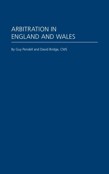 Arbitration in england and wales - cms - CMS - e-guides