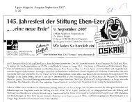 Pressespiegel September 2007 (2 mb) - Stiftung Eben-Ezer