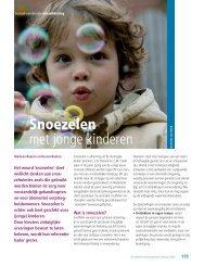 Snoezelen met jonge kinderen - hjk