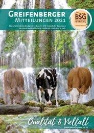 Greifenberger Mitteilungen 2021