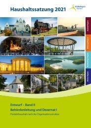 Haushaltsentwurf 2021 (Band II) Dezernat I und Behördenleitung