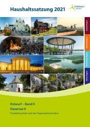 Haushaltsentwurf 2021 (Band II) Dezernat II
