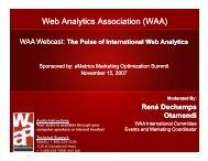 Taking the Pulse of International Web Analytics - Visual Revenue