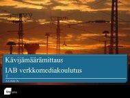 Kävijämäärämittaus IAB verkkomediakoulutus - IAB Finland