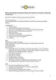 Referat af ordinær generalforsamling i Netværket for Snoezelen i ...