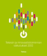 Tekesin ja innovaatiotoiminnan vaikutukset 2012 (pdf)